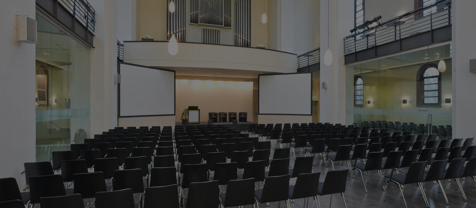 Großer Saal in der Location Umweltforum